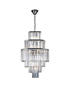 Crystal Spiral Chandelier Celestial Staircase 9 Lights Lighting 6 Tier Chrome Pendants Lode International