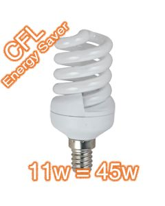 Bulbs CFL 11w 45w Compact Fluorescent Lamps 240v T2 Globes