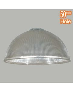 Clear Ribbed Clarendon Large Glassware Pendants Lamps Shades Lights