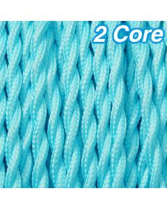Cheap Aqua Twisted Lighting Cables Fabric Cloth Cords 2 Core Lighting 240v