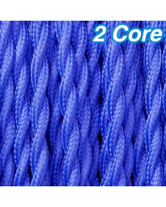Cheap Blue Twisted Decorative Cables Lighting Cords Fabric Cloth 2 Core 240v