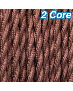 Cheap Cloth Lighting Cables Cocoa Twisted Fabric Cords 2 Core Pendants