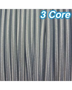 Cheap Cloth Grey Fabric Lighting Cables Cords 3 Core Pendants Lights