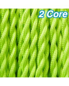 Cheap Lime Twisted Cloth Cables Lighting Fabric Cords 2 Core Pendants