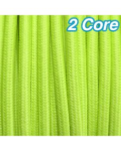 Cheap Lime Fabric Cloth Cord 2 Core Lighting Cables Pendants Lights