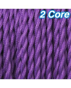 Cheap Cloth Purple Cables Lighting Twisted Fabric Cords 2 Core Pendants