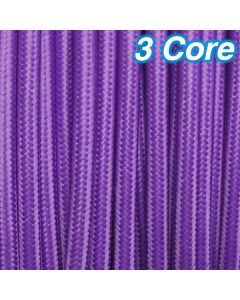 Cheap Coloured Cables Lighting Purple Fabric Cloth Cord 3 Core 240v