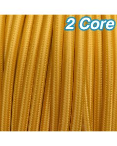 Cheap Coloured Yellow Fabric Cloth Cords 2 Core Lighting Cables 240v
