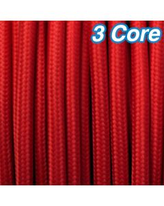 Cheap Decorative Lighting Cables Red Fabric Cloth Cords 3 Core 240v