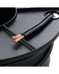 Black PVC Electrical Cord Cable 2 Core 12v 4mm Garden Lighting