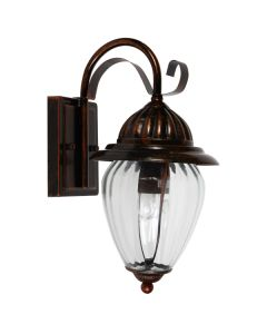 Cheap Devon Copper Bronze Wall Lights IP44 Outdoor Lighting Exterior Cage Period