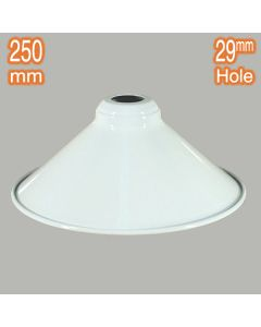 Edwardian 250mm Metal Lamps Shades White Industrial Lighting