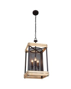 Cheap Industrial Lantern Lighting Metal Cage Ceiling Pendants Lights