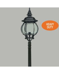 Flinders Heavy Duty Post Lighting Black Bollard Driveway Lights Outdoor Exterior