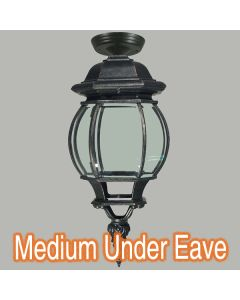Outdoor Eave Lighting Black Flinders Traditional Exterior Lights