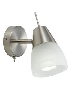 Gibson Lights Spotlight with Switch Nickel Indoor Wall Lighting