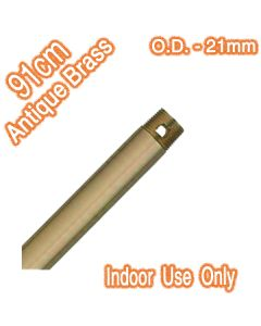 Antique Brass Downrod 21mm Ceiling Fans Extensions