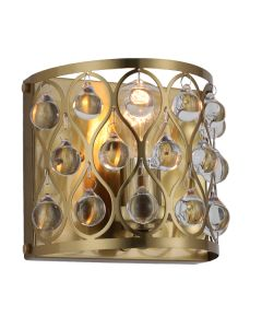 Brushed Brass Lighting Jazz Wall Lights Crystal Lamps Modern Sconce Traditional
