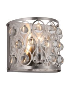 Brushed Nickel Lighting Jazz Wall Lights Crystal Lamps Modern Sconce Traditional