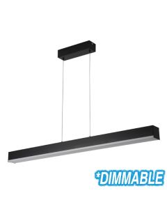 Matt Black Kitchen Lighting LED Linear Bench Pendants Lights Suspended