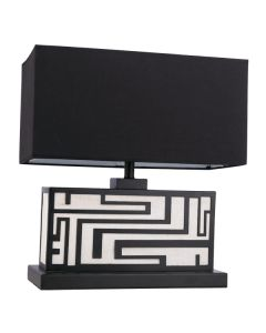 Katey Hotel Table Lamps Black Lights Fabric Shades Lighting