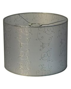Lacey 40 Large Fabric Lamps Shade Silver