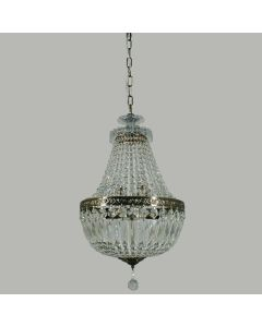 Le Pavillon Crystal Lighting Brass Hanging Basket Lights Pendants Lode International