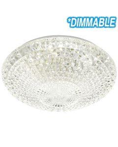 Lilac40 32w LED Dimmable Oyster Light Telbix Lighting