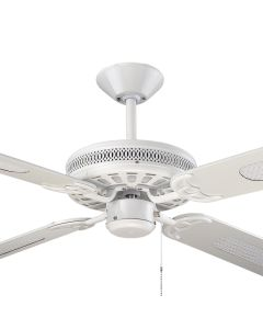 "Majestic Traditional Ceiling Fans Coolah White 52"" AC Timber Hunter Pacific"