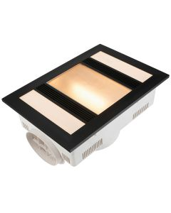 Black Marvel LED Bathroom Heater Exhaust Light Fans IXL 3in1