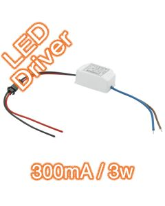Mini 300mA 3W Electronic LED Driver Constant Current
