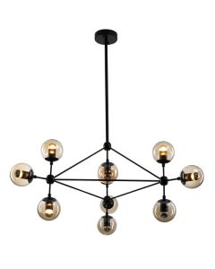 Modo Chandelier Lights Replica Jason Miller Lighting Pendants Black 10 Triangle
