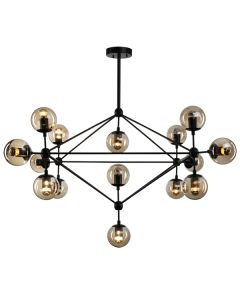 Roll & Hill Lighting LED Chandelier 15 Lights Square Pendants Replica Jason Miller