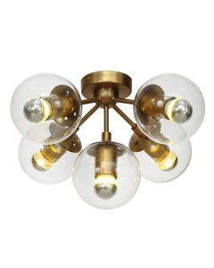Gold Modo Close to Ceiling Lights Replica Jason Miller Lighting
