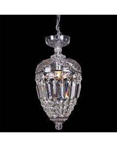 Mozart Crystal Lights Pendants Glass Basket Traditional Lighting Lode International