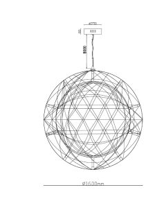 LED Replica Raimond Moooi Pendants Lighting Ceiling Lights Large Ball