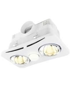 Newton Cheap 3in1 Bathroom Heater White Exhaust Fans Lighting