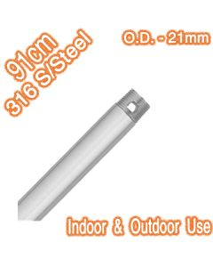 316 Stainless Steel Downrod 91cm 21mm Ceiling Fan Extensions
