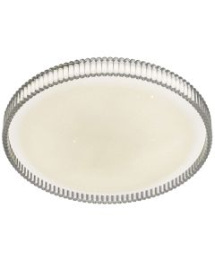Clear Rosario 40 30w LED Oyster Lights Tri Colour Ceiling Lighting Telbix