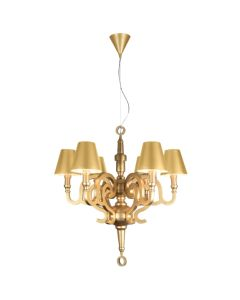 Champagne Gold Replica Studio Job Moooi Paper Pendants Lights Lighting Chandelier Shade