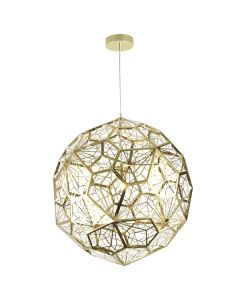 Modern Gold Lights Etched Web Replica Tom Dixon Pendants Lighting