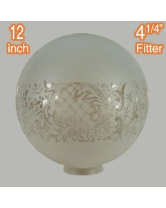 Sheffield Etched 12 inch Sphere Glassware Lamps Shades Pendants Lights