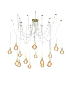 Ceiling Pendants Lighting Cafe Spider 16 Lights Looping Gold Creeping