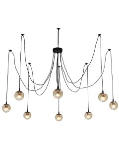 Replica Jason Miller Lighting Spider Black Pendants Lights Looping Ceiling