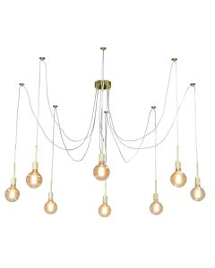 Cafe Lighting Spider Looping Ceiling Pendants Lights Gold Octopus