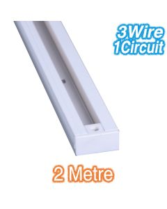 White 2m Track Lighting 3Wire 1Circuit Commercial Lights