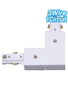 Corner Joiner Track Lighting White L-Shaped 3Wire 1Circuit Ceiling Lights