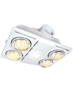 Bathroom Heater Exhaust Light Fans White IXL Supernova LED 4Heat 3in1