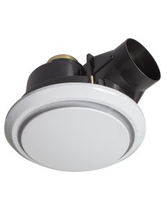 White Bathroom Exhaust Fans Talon Round 18190 Brilliant Lighting