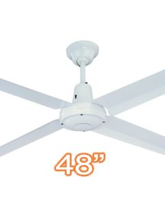 "Typhoon M3 48"" AC Metal Bedroom Ceiling Fans White Hunter Pacific"